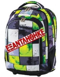 0306355e611 Σχολική τσάντα πλάτης Polo FANTASIA πράσινη με σχέδιο